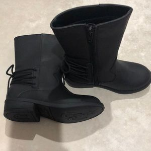 Toddler black boots